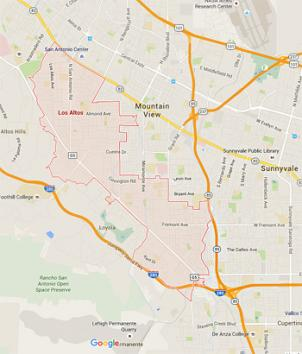 the service area that our team covers extends beyond Los Altos, California